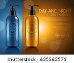 make up and skincare packaging... | Shutterstock .eps vector #635362571