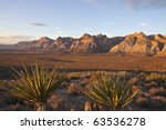 warm dawn light at red rock... | Shutterstock . vector #63536278