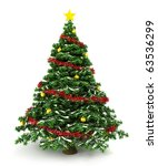 3d christmas tree | Shutterstock . vector #63536299