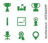 place icons set. set of 9 place ... | Shutterstock .eps vector #635366099