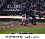 Small photo of SAN FRANCISCO, CA - OCTOBER 19: Giants vs. Phillies: Cody Ross at bat with sun-shining off his helmet with Carlos Ruiz catching game three of the NLCS 2010 October 19, 2010 AT&T Park San Francisco.