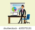 manager or businessman stand... | Shutterstock .eps vector #635373131