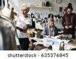 fashion design mannequin... | Shutterstock . vector #635376845