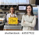 small business  happy owner of... | Shutterstock . vector #63537922