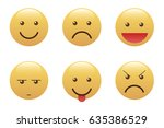 set of emoticons  icon pack ... | Shutterstock .eps vector #635386529
