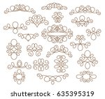 ornamental design elements... | Shutterstock .eps vector #635395319