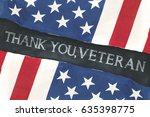 two american flags made out of... | Shutterstock . vector #635398775