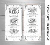 hand drawing restaurant menu...   Shutterstock .eps vector #635399159