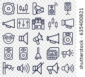 loud icons set. set of 25 loud... | Shutterstock .eps vector #635400821