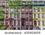Small photo of House on Astor Row. Astor Row is the name given to 28 row houses on the south side of West 130th Street, between Fifth and Lenox Avenues in the Harlem neighborhood of Manhattan, New York City