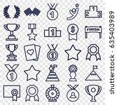 winner icons set. set of 25...   Shutterstock .eps vector #635403989