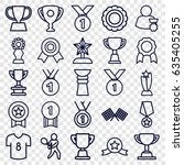 champion icons set. set of 25... | Shutterstock .eps vector #635405255