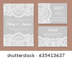 Wedding Cards Set With White...