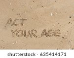 "handwriting  words ""act your... 