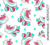 vector seamless pattern with... | Shutterstock .eps vector #635414177
