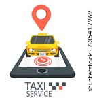 taxi service app concept vector ...