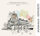 tiruchirappalli  trichy   tamil ... | Shutterstock .eps vector #635418191