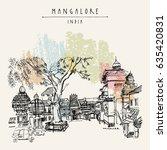mangalore  karnataka  india.... | Shutterstock .eps vector #635420831