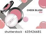 modern cheek blush pink or... | Shutterstock .eps vector #635426681