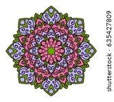 mandala. ethnic decorative... | Shutterstock .eps vector #635427809