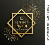 beautiful ramadan kareem... | Shutterstock .eps vector #635435519