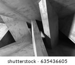 dark concrete empty room.... | Shutterstock . vector #635436605