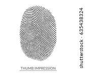 white thumb impression on... | Shutterstock .eps vector #635438324