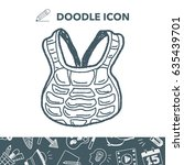 baseball catcher doodle   Shutterstock .eps vector #635439701