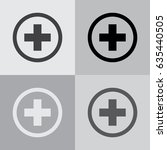 medical cross icon. vector... | Shutterstock .eps vector #635440505