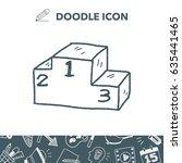 doodle podium | Shutterstock .eps vector #635441465