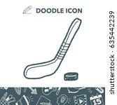 hockey doodle | Shutterstock .eps vector #635442239