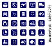 logistics icons. set icons... | Shutterstock .eps vector #635443079