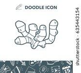 ginger doodle | Shutterstock .eps vector #635443154