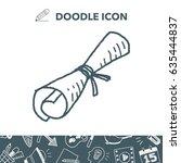 certificate doodle | Shutterstock .eps vector #635444837