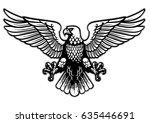 black and white heraldry eagle | Shutterstock .eps vector #635446691