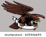 eagle hold the ribbon | Shutterstock .eps vector #635446694