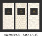 branding package pattern nature ... | Shutterstock .eps vector #635447351