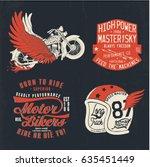 vintage motor designs vector set | Shutterstock .eps vector #635451449