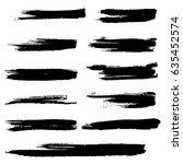 ink vector brush strokes.... | Shutterstock .eps vector #635452574