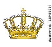 crown vector | Shutterstock .eps vector #635459354