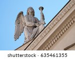 Small photo of ROME, ITALY - SEPTEMBER 03: Angel, San Rocco church dedicated to Saint Roch. Founded in 1499 by Pope Alexander VI as the chapel of an adjacent hospital in Rome, Italy on September 03, 2016.