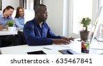 handsome afro american... | Shutterstock . vector #635467841