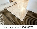 ceramic tiles and tools for...   Shutterstock . vector #635468879