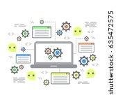 line flat design concepts of... | Shutterstock .eps vector #635472575