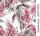 lilac seamless pattern....   Shutterstock . vector #635474051