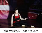 the girl dancing on the stage   Shutterstock . vector #635475209