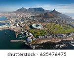 aerial view of cape peninsula ... | Shutterstock . vector #635476475