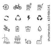 eco icons  | Shutterstock .eps vector #635486141