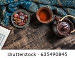 islam holy book of muslims ... | Shutterstock . vector #635490845