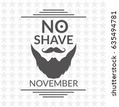 no shave november vector... | Shutterstock .eps vector #635494781